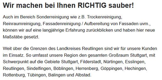 Glasreinigungen aus  Göppingen - Ottenbach, Bartenbach, Maitis, Lenglingen, Industriegebiet Ost, Hohrein und Voralb, Hirschhof, Stadt Uhingen